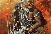 Ethnic Tribal Portrait / African culture tribal ethnic portrait contemporary