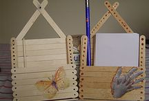 Paper holders with popsicle sticks