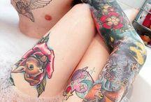 tatuagens / Meu corpo é meu diário e minhas tatuagens são minhas histórias (Johnny Depp)