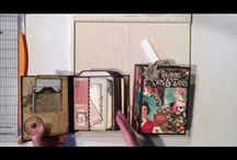 Ginger - My Sisters Scrapper / Mini album inspiration for compact and clean pages. Links to Ginger's blog and you tube channel.
