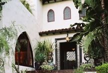 Spanish style houses and decoration