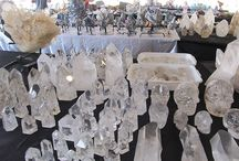 2017 Denver Gem & Mineral Show / Faith just returned from the Denver Gem & Mineral Show!  I had a great time and found lots of outstanding quartz crystals, stones and jewelry!  A special thanks to our friend that went with me to help pick, lift, carry and pack all these beautiful pieces.  This also allowed Bill to keep the shop and website open for business!  We hope ya'll enjoy our wonderful items & our pictures of the trip & process!