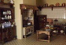 Victorian dollhouse kitchen