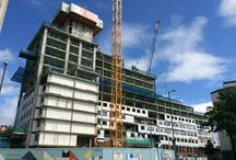 Unite Portsmouth - Greetham St / This striking high-rise provides a home-away-from-home for 836 Portsmouth students. As a £42 million UNITE student housing development, this project is scheduled to be completed in time to accommodate students enrolling for September 2016.