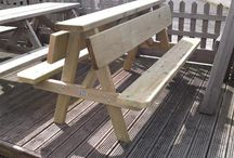 Garden Furniture / Garden furniture that we make ourselves using quality tantalised timber from our own sawmill and sourced locally and where possible from sustainable sources