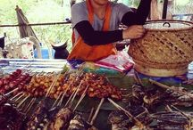 Food: Lao Food + Markets / From Stuffed Frog, Mushroom Stew, Noodle Soup, Grilled River Fish to Green Papaya Salad... and of course, Sticky Rice. In the markets, on the streets and in homes and restaurants - this is Lao food.