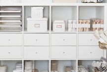 Beautiful Office Space / I don't have an office space at the moment, but if I did I would love it to look something like these. I love beautiful spaces that are also organised and functional.
