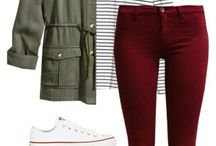 Maroon Jean Outfits