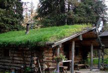 Fa-kő ház