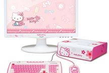 Hello kitty computer stuff / by Kitty White