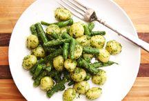 Zelenina a jídlo bez masa