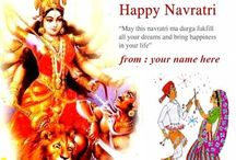 happy navratri wishes / write name on happy navratri wishes greetings cards. maa ambe maa durga pooja images. create personal navratri pictures for greetings. create navratri whatsapp dp,facebook profile picture