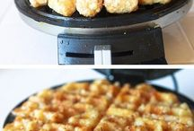 waffle iron cooking / by Lorna Evenson