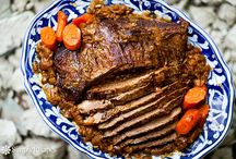 Recipes -- Pork & Beef / Recipes that use pork and beef on the grill, in the oven, or on the stove top.