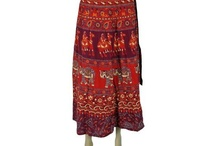 Cotton Wrap Skirt