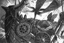 Vikings sailing to valhala