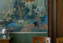 Historical Wallpapers - Interior Design / A group board showcasing striking and unusual wallpapers...