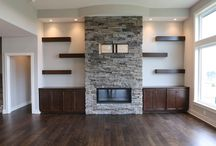 Fireplace shelves