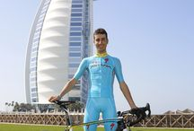 Astana Cycling Team / The intense yellow of our sneakers will support them in their most important races: relive with us the presentation of the Astana Cycling Team in Dubai! bit.ly/yellow-sneakers