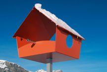 creative birdhouses / homes for design conscious birds. RADIUS DESIGN lends the old established nesting box a modern face.