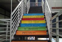 Escaleras Lectoras CCS / Escaleras que contienen frases con la finalidad de fomentar la lectura entre l@s usuari@s CCS.