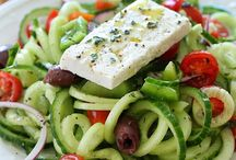 Greek Salad Spirals