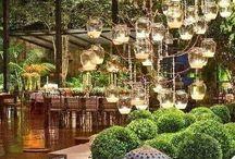 Restauracja - lampki świąteczne