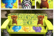 Friendship bench by Samantha Prentice of Mural Creations Perth.
