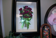 Freeze Dried Wedding Bouquets Encased In Frames  / Custom Freeze Dried Wedding Arrangements Encased and Framed