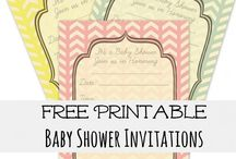 Free Baby Shower Invites / Free Baby Shower Invites / by Modern Baby Shower Ideas