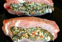 Spinish stuffed pork chop