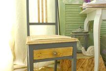 Sièges chaises et fauteuils / Chaises et fauteuils relookés Canapés / ensemble de jardin en palette