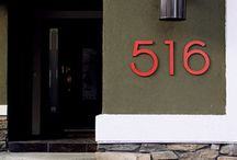 house numbers / by Phoebe Yip