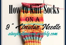 Knitting socks