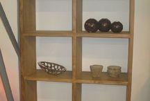 Teakový bejvák / interiér obýváku