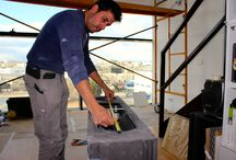 Climatizando un loft / Fotografías correspondientes a los trabajos de climatización de un loft.