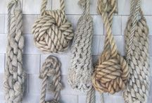 Nautical Rope Decor / Nautical home decor is completely incomplete without ropes and knots. Is your home nautically inspired or beachy? Check out our Pin Board and be sure to follow it!