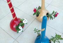 Gourd flowerpot
