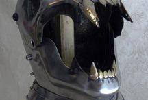 Scary helmet
