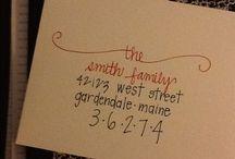 Envelope handwriting