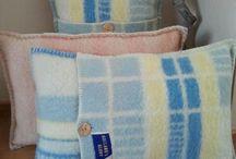 Kussens van wollen dekens