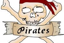 Blood Thirsty Pirates / Pirates, Shiver me timbers! Here be Booty and Blood! Sail with us if ye heart be stout