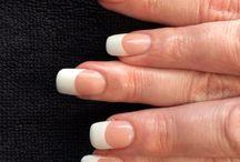 Acrylic French nails