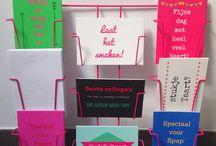 kaartjes bij taartjes / Voor gebak met een boodschap! Speciale kaartjes voor bij de bakker