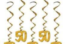 50th Anniversary Party Decorations and Ideas / Here is a collection of our favorite 50th Anniversary Party Products and ideas that we have found:
