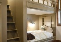 DIY BUILT-IN BUNK BEDS FOR EACH SIDE OF BSMT. STAIRS