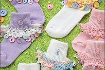 Sock crochet trims