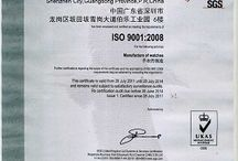 3watches Certificate / Most 3watches products are approved by International Safety Agencies. Our certified products have been successfully investigated by: CE Europe, RoHS, ISO9001:2008, Design Patent Certificate and Patent of Utility Model, DHL Fivestar international gold partner etc. For further information on the approval status of 3watches products, please e-mail to our customer service center at info@3watches.com at your convenience.