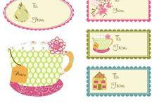 Papelaria / Tags, etiquetas, rótulos, embalagens e papéis...  para a criação de um presente mais personalizado!!
