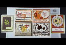 Stampin' Up! Thanksgiving cards